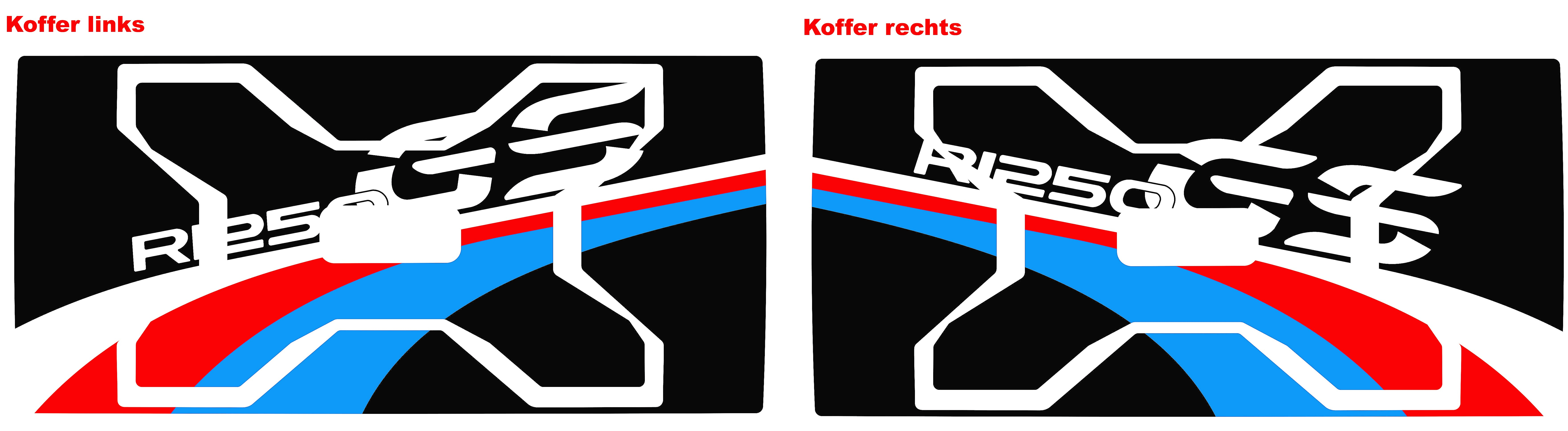 Preview: Aufkleber-Dekor-Set Koffer R 1200 & 1250 GS (LC) Motorsport HP